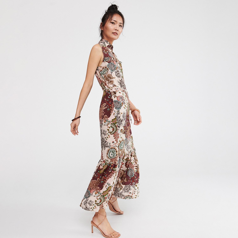 af013e2a Reserved - Długa sukienka - Wielobarwny