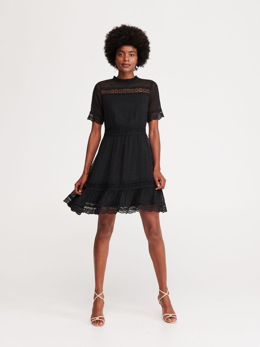 cee983b099a3 Jetzt shoppen! Kleid Aus Plumetis-Stoff, RESERVED, WU742-99X
