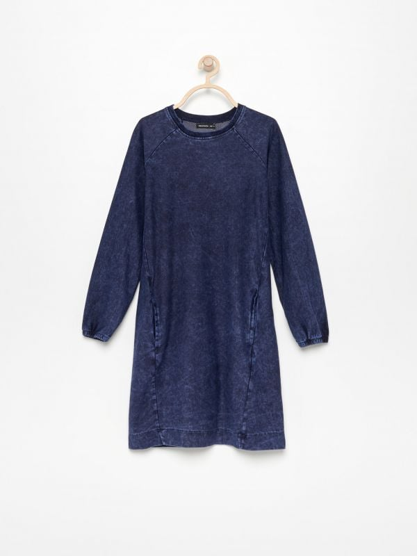 cda71b88ca103c Sukienka w kratę · Sukienka dresowa - granatowy - UV309-59X - RESERVED