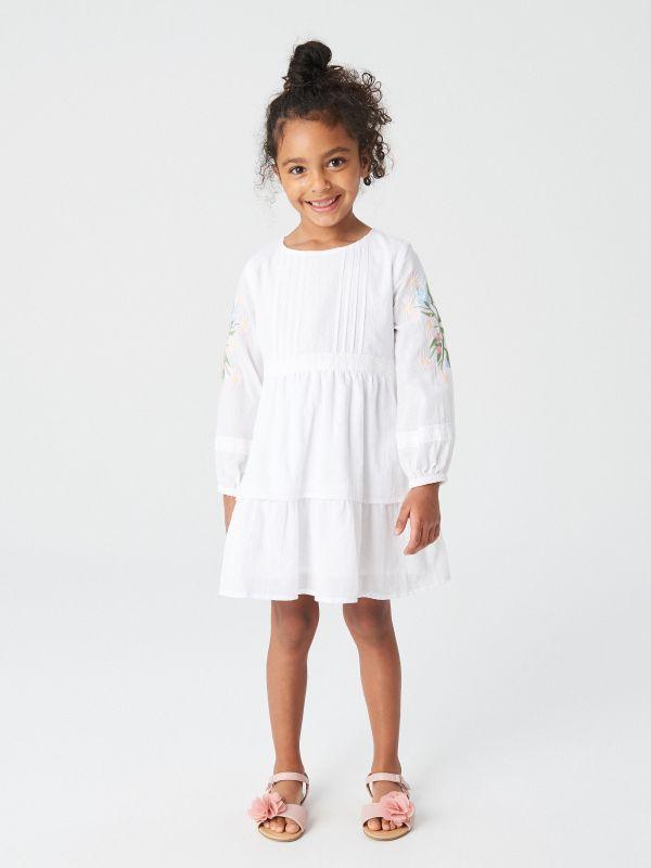 74606e625f Tiulowa sukienka · Sukienka z bawełny organicznej - biały - VG295-00X -  RESERVED