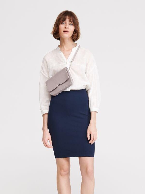 283e4f0d1 Sukňa s opaskom · Úpletová sukňa - tmavomodrá - VH312-59X - RESERVED