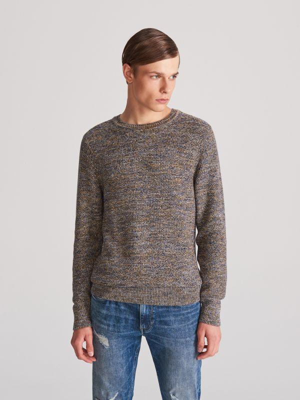 4f6773f256a99f Bawełniany sweter · Sweter z bawełny organicznej - wielobarwny - VY858-MLC  - RESERVED