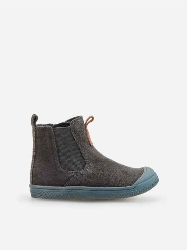 c74c62cdec21a Kožené poltopánky · Kožené topánky s elastickými bokmi - šedá - WE433-90X -  RESERVED