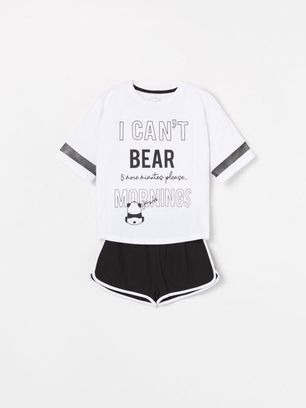 6610fa34670388 Piżama Mickey Mouse · Piżama z szortami - biały - WF563-00X - RESERVED