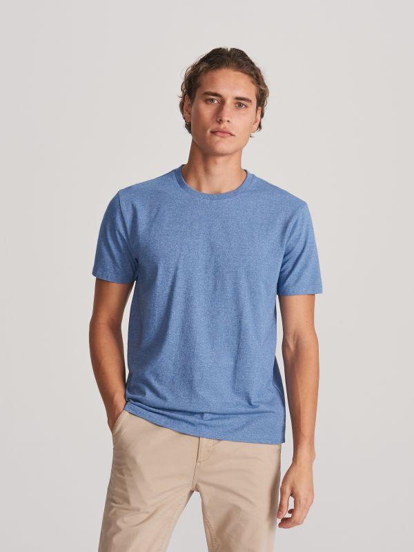 c12b0ddaff9391 T-shirt z nadrukiem · T-shirt basic - niebieski - WG064-55M - RESERVED