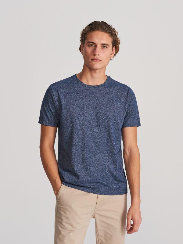 616cad98ece95b 4 T-shirt basic - granatowy - WG064-59M - RESERVED