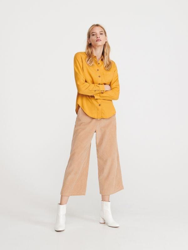 9abc4591c4d364 Gładka koszula z Tencelu™ · Gładka koszula z Tencelu™ - żółty - WN643-18X -  RESERVED