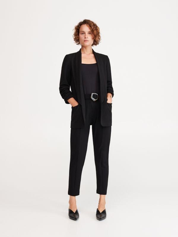 1f4587ad67d816 Eleganckie kuloty · Spodnie z paskiem - czarny - WO577-99X - RESERVED