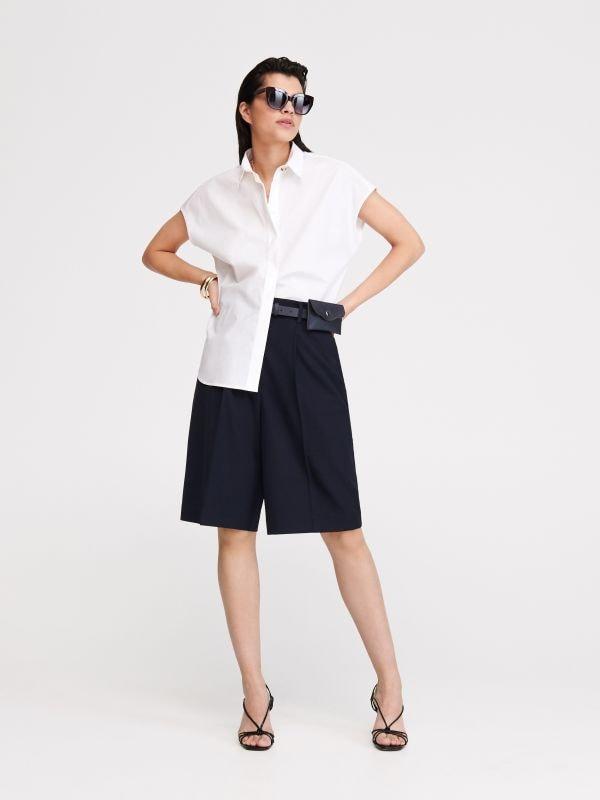 62402972f0f45 Wzorzysta koszula z wiskozy · Gładka koszula z bawełny - biały - XA254-00X  - RESERVED