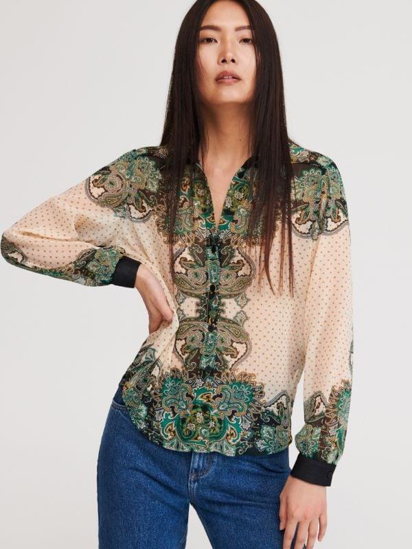 c4830217e5d30 LADIES` SHIRT · Узорчатая рубашка - Многоцветный - XT099-MLC - RESERVED